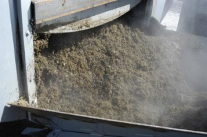 The fast composting process of the in-vessel composter produces excellent quality compost.