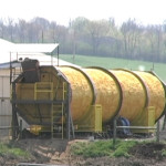 This 10'x 60' In Vessel Composter by XACT will compost manure for bedding from the 1700 cow herd.